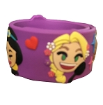 Disney Silicone Bracelet - Emoji Princesses - Purple
