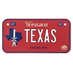 Disney License Plate Magnet - Texas State - Donald Duck