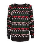 Disney Sweater for Women - Mickey and Minnie Holiday - Snowflakes
