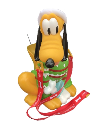 Disney Popcorn Bucket - Santa Pluto - Green Ugly Sweater