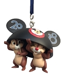 Disney Christmas Ornament - 2018 Chip n Dale with Ears Hat