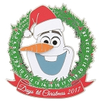 Disney Holiday Pin - 2017 Olaf Countdown - Jumbo