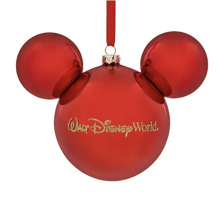 Disney Christmas Ornament Mickey Mouse Icon Red Walt Disney World