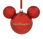 Disney Christmas Ornament - Mickey Mouse Icon - Red Walt Disney World