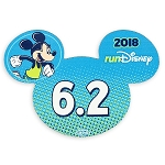 Disney Auto Magnet - 2018 Run Disney - Mickey Mouse - 6.2