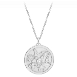 Disney Crislu Necklace - Walt Disney World Medallion - Platinum