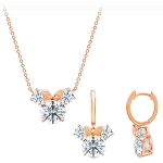 Disney Crislu Necklace and Earrings Set - Minnie Mouse Faceted