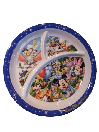 Disney Plastic Plate - Storybook - Mickey Mouse and Friends