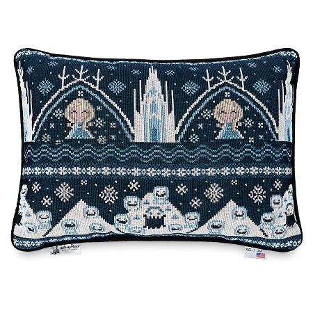 Disney Throw Pillow - Frozen Holiday Cross Stitch