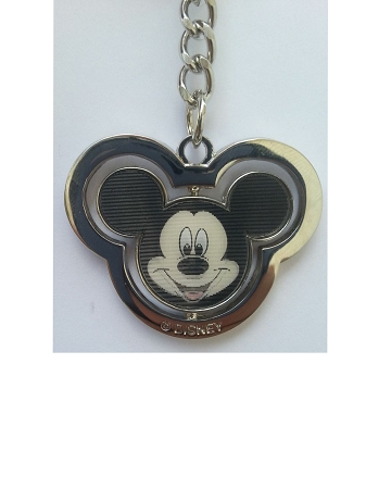 Disney Keychain - Mickey Mouse Spinner - Lenticular