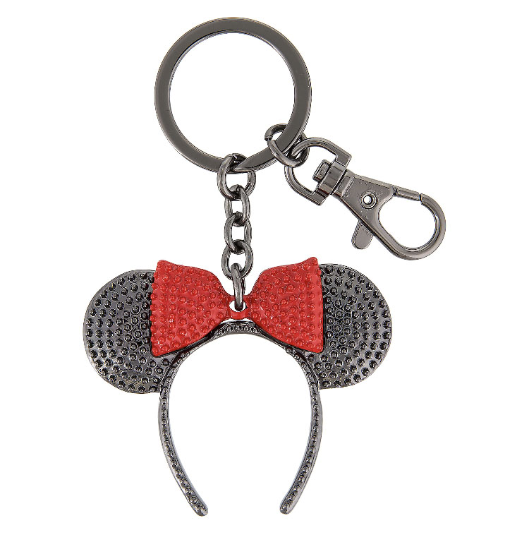 Disney Keychain - Minnie Mouse Ears Headband Hat - Black