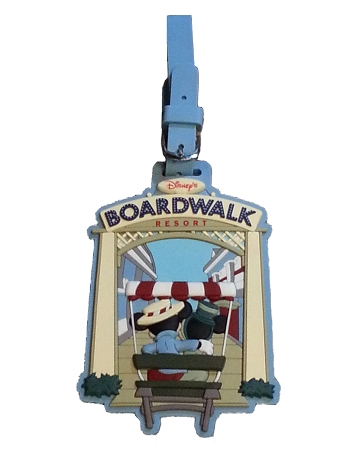 Disney Luggage Bag Tag - Boardwalk Resort - Mickey & Minnie Mouse