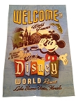 Disney Throw Blanket - World Famous Walt Disney World Resort - Fleece