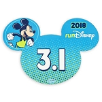 Disney Auto Magnet - 2018 Run Disney - Mickey Mouse - 3.1