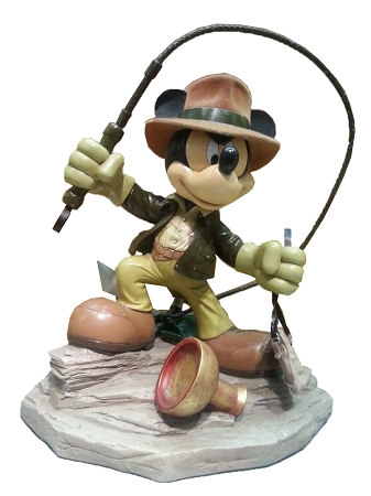 Disney Medium Figure Statue - Mickey Mouse - Indiana Jones