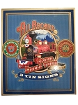 Disney Sign Set - All Aboard Railroad Train Tin Signs
