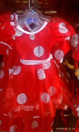 Disney Costume Dress for GIRLS - Minnie Mouse - Red & White