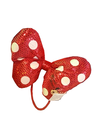Disney Hair Accessory - Minnie Mouse Bow Plush Hair Tie