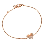 Disney CRISLU Bracelet - Minnie Mouse Icon - Rose Gold