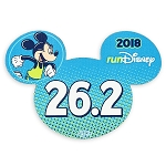 Disney Auto Magnet - 2018 Run Disney - Mickey Mouse - 26.2