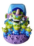 Disney Coin Bank - Buzz Lightyear Spaceship and Aliens - Toy Story