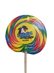 Sea World Shamu Candy Co. - Shamu Lollipop - Multicolored Swirl - HUGE