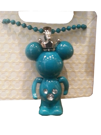 Disney Necklace - Minnie Mouse Figurine with Crown - Turquoise