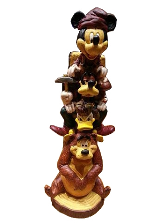 Disney Figurine Wilderness Lodge Resort Totem Mickey
