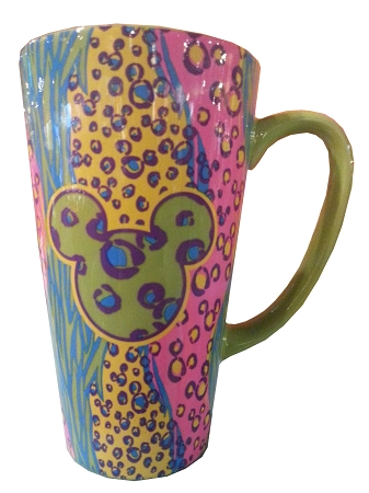 Disney Coffee Mug - Colorful Mickey Mouse Icons - Tall