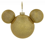 Disney Christmas Ornament - Mickey Mouse Icon - Gold