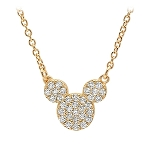 Disney CRISLU Necklace - Mickey Mouse Icon - Yellow Gold