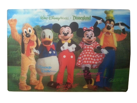 Disney Placemat - Fab 5 Mickey and Pals - Lenticular