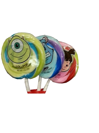 Disney Parks Lollipops - Monsters University Multicolored Swirl - 3 Pk