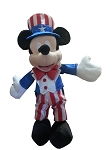 Disney Plush - Mickey Mouse - Patriotic - Red White Blue