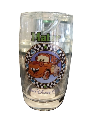 Disney Arribas Juice Glass - Tow Mater - Jeweled