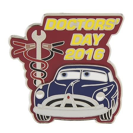 Disney Doctor's Day Pin - 2016 Doc Hudson - Cars