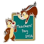 Disney Teacher Day Pin - 2016 National Teacher Day - Chip and Dale