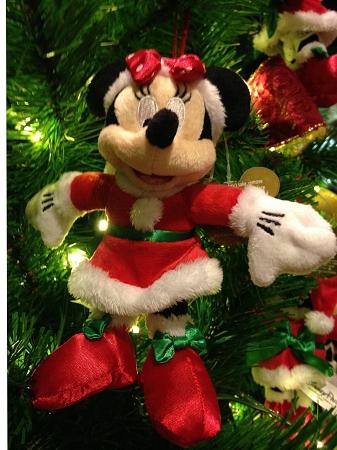 Christmas Minnie Mouse Plush.Disney Christmas Ornament Santa Minnie Mouse Plush 5
