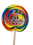 Disney Parks Lollipop - Mickey and Friends Multicolored Swirl - 4 oz