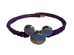 Disney Bracelet - Mickey Mouse Icon - Braided Purple