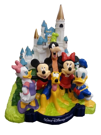 Disney Coin Bank - Walt Disney World Castle - Mickey Mouse and Friends