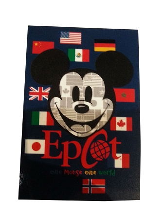 Disney Throw Blanket - Epcot - One Mouse, One World - Mickey Mouse