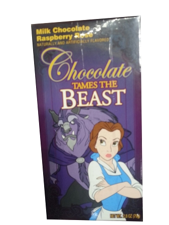 Disney Parks Candy - Beauty and Beast - Milk Chocolate Raspberry Rose