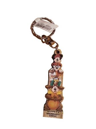 Disney Keychain - Wilderness Lodge Resort - Totem Mickey and Friends