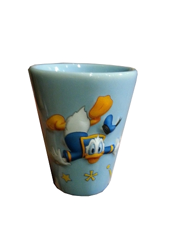 Disney Shot Glass - Donald Duck - The Feathers Are Flyin'