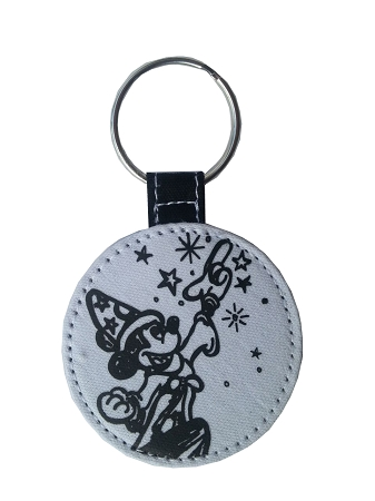 Disney Keychain - 2013 Sorcerer Mickey Mouse - Black and White