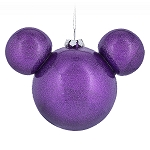 Disney Christmas Ornament - Mickey Mouse Icon - Purple