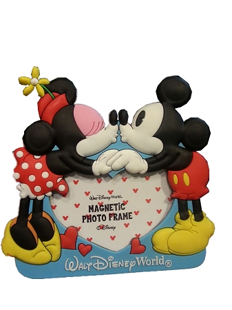 Disney photo frame magnet minnie and mickey mouse kiss - Mickey mouse minnie cienta ...