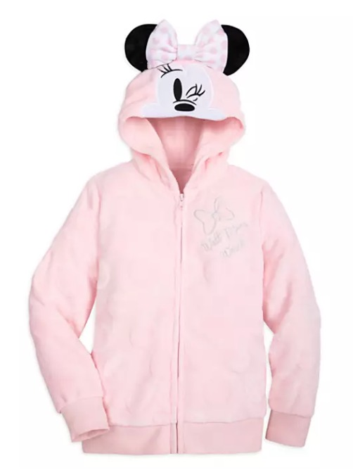 Disney Hoodie for Girls - Minnie Mouse Wink - Fleece - Pink