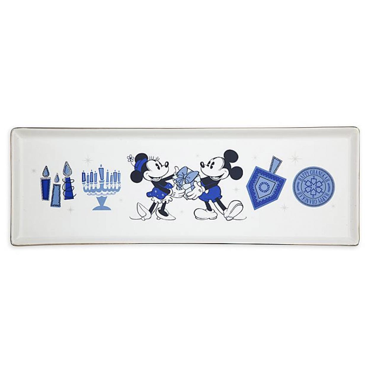 Disney Parks Holiday Mickey and Minnie Happy Chanukah Hanukkah Two Dish Towel